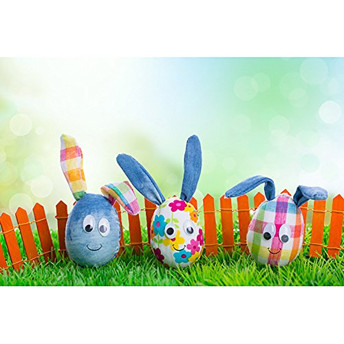 HYIRI Crazy Easter Day Theme Vinyl Landscape Photography Background Custom Photo Background Props -