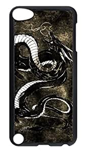 Brian114 Case, iPod Touch 5 Case, iPod Touch 5th Case Cover, Dragon 2 Retro Protective Hard PC Back Case for iPod Touch 5 ( Black )