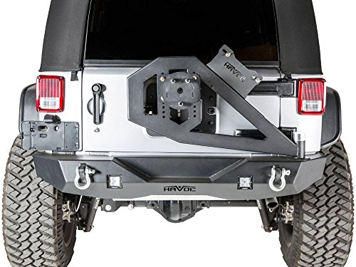 - Havoc Offroad GEN 2 Aftershock 2007-2018 Jeep JK Wrangler Mid Width Rear Bumper w/Hinged Tire Carrier
