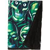 "Liquid Blue Men's Fantasy Skull Pile Classic Coral Fleece Throw Blanket, Multi, 50"" X 60"""