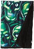 Liquid Blue Men's Fantasy Skull Pile Classic Coral Fleece Throw Blanket, Multi, 50'' X 60''