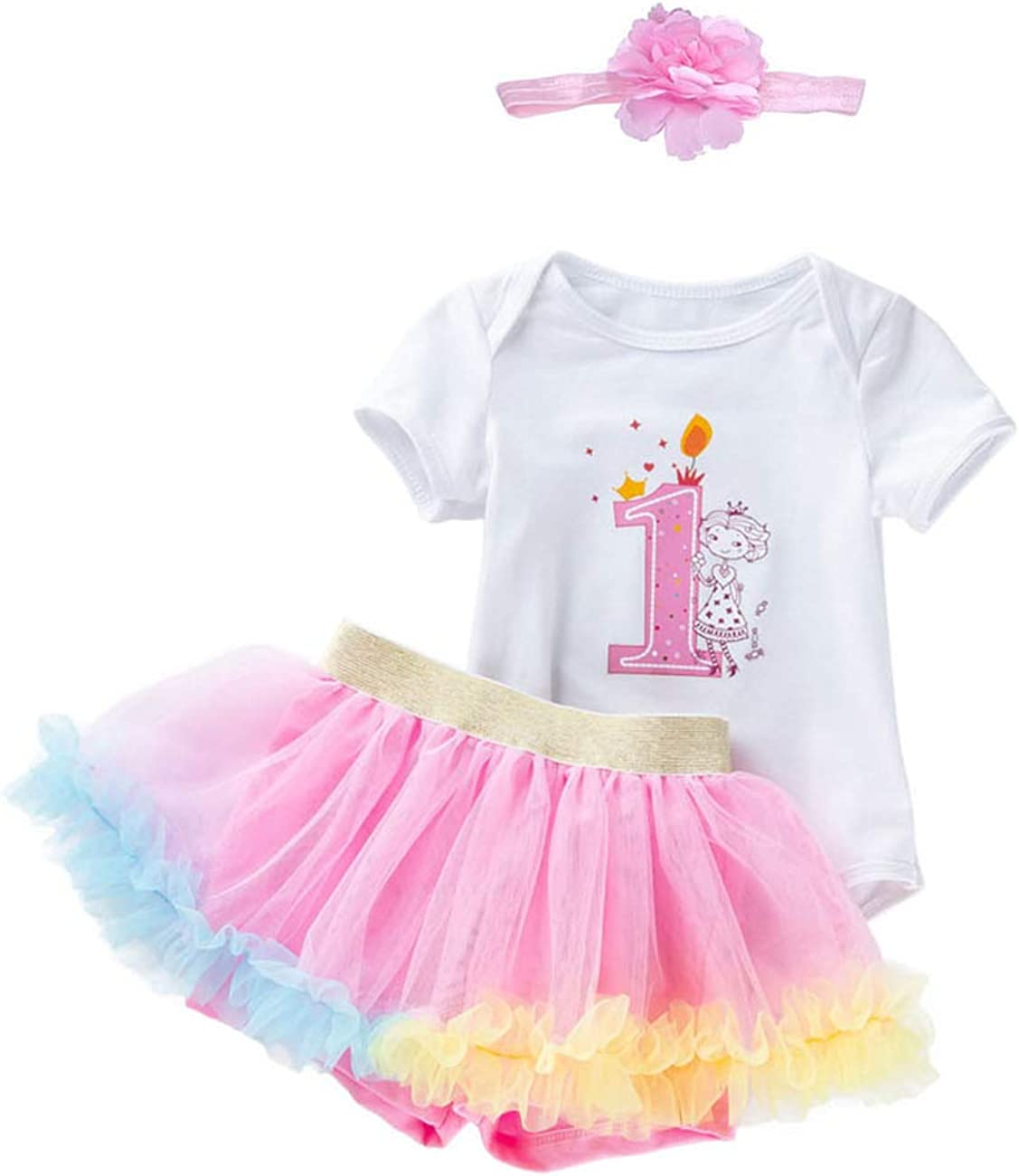kislin 1st Birthday Outfit Girl Tutu Skirt Bodysuits Baby Costumes 1 Year Old Girl Gifts Skorts