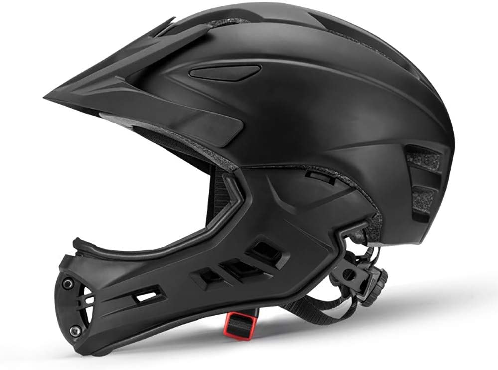 48-58CM Dirtbike Teens and Adults MTB Skateboard with Detachable Chin Guard 2-in-1 Full Face Bike Helmet for Kids SXC Downhill Helmet BMX