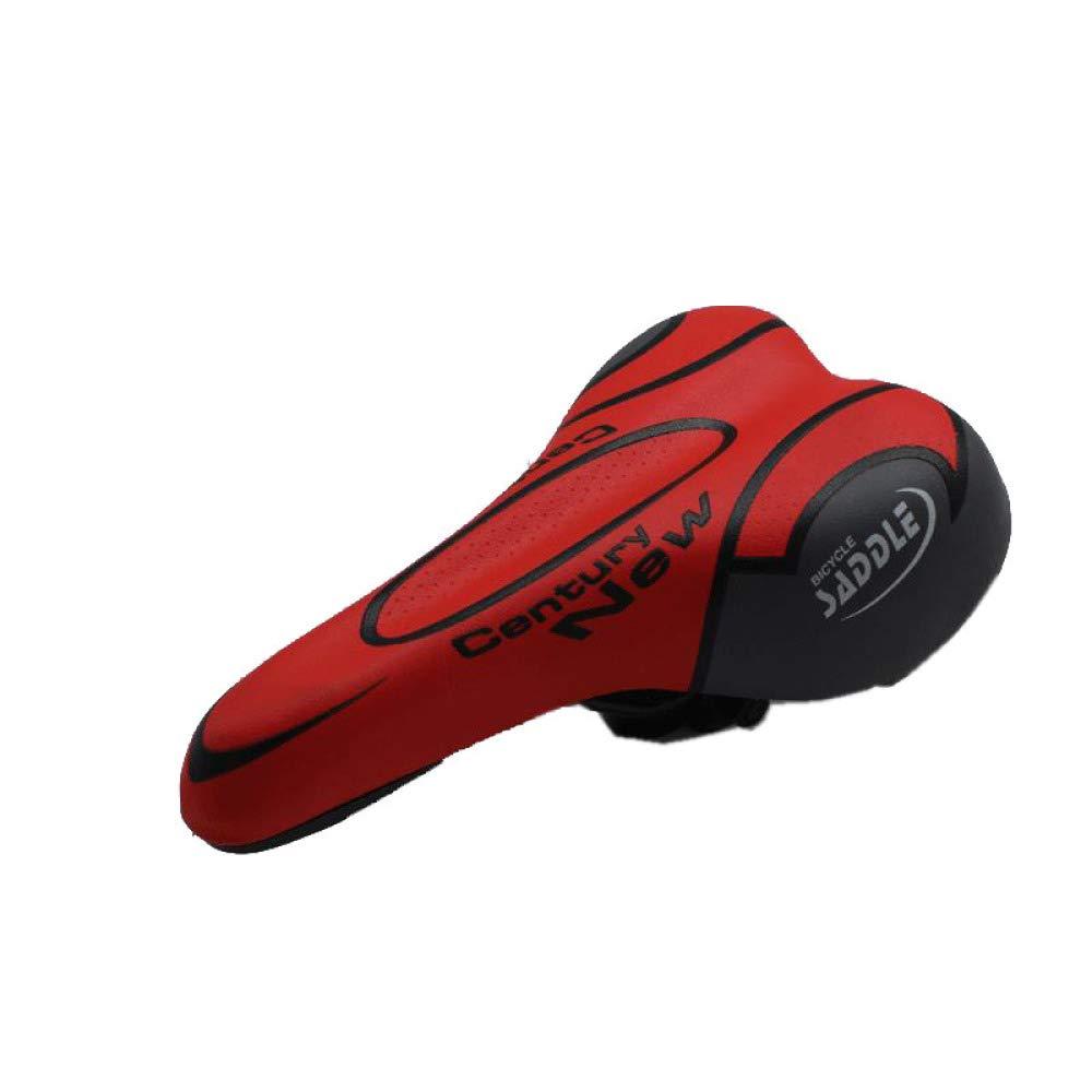 QAL Mountainbike Sitzkissen, Outdoor PU Leder Rot 25  15 cm Fitness Fahrrad Sattel Elektroautosattel Mountainbike Sitz