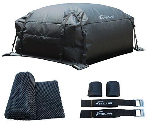 STELLAR 10203-309 Waterproof Roof Top Cargo bag- Mat- Lashing straps combo by Stellar