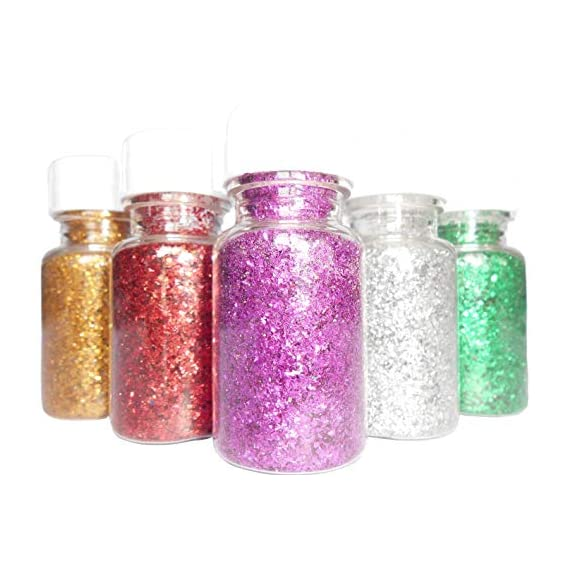 DBC Retail Multicoloured Sparkle Glitter Powder, Glitter Dust for Art & Craft, Rangoli, School and DIY Projects (Pack of 12, 15 g Each)