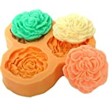 JADE Onlines 3.3cm Small Flowers Silicone Fondant Sugar Pudding DIY Cake Cookie Mini Craft Mold