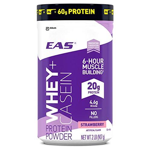 EAS Whey + Casein Protein Powder, Strawberry, 2 - Myoplex Protein Whey