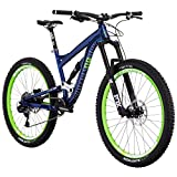 Diamondback Bicycles Mission 1 Complete All Mountain Full Suspension 27.5″ Bike, Blue, 17″/Medium