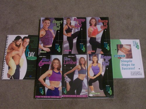 SLIM IN 6 PROGRAM: 5 VHS SET: Start It Up! *** Ramp It Up! *** Burn It Up! *** Slim & 6-Pack *** Slim & Limber. RESHAPE YOUR BODY with (Ramp Training Set)