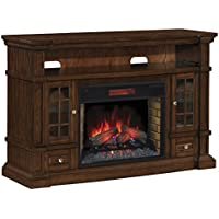ClassicFlame 28MM6240-O128 Belmont TV Stand for TVs up to 65, Caramel Oak (Electric Fireplace Insert sold separately)