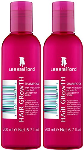 Lee Stafford Hair Growth Shampoo With Pro Growth Complex 200ml Qty 2