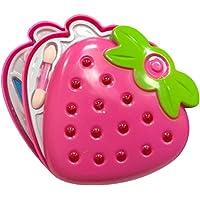 Toyvian Set de Maquillaje para niñas con Kit de Belleza de cosmética de Tres Capas con Espejo para niños