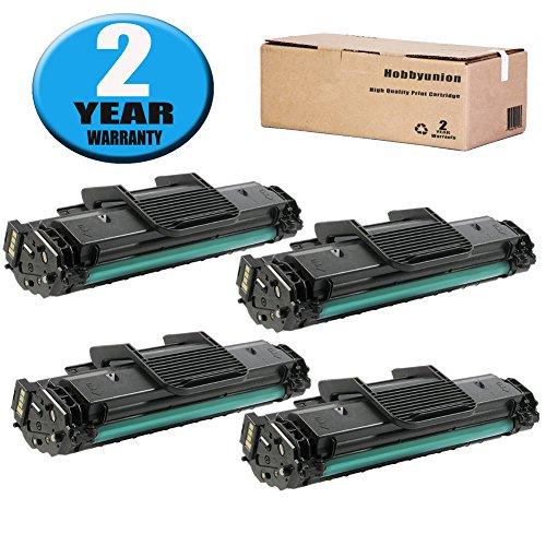 1640 Laser - Compatible MLT-D108S Toner Cartridge by Hobbyunion for Samsung ML-1640 ML-1641 ML-2240, Black (4 Pack)