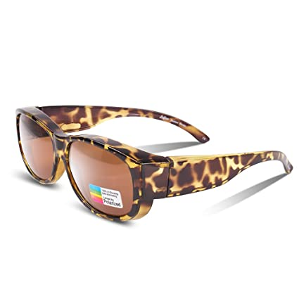 bcee03bf2995 Ewin O02 Polarized Wear Over Sunglasses Prescription Fit-over Glasses  Unisex Styles for Men Women. Roll over image to zoom in