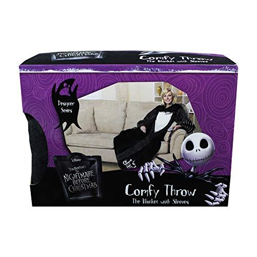 Nightmare Before Christmas JACK Tuxedo Grim Reaper Comfy SNUGGIE Throw Blanket -