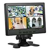 Koolertron 7 inch CCTV Monitor LCD Monitor with HDMI/VGA/AV Port Support 1080P for DSLR/PC/CCTV Camera/DVD/Car Backup Camera/Home Office Surveillance Secure System