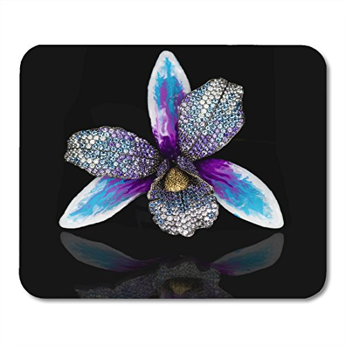 Boszina Mouse pad Necklace Black Diamonds Jewelry Best for Loved Ones White Gold Amethysts Office Supplies mouses pad 9.5x7.9 Inches Mousepad
