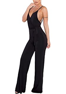 427557d0d86 MS Mouse Womens Sexy V Neck Sleeveless Strap Homewear Jumpsuits Rompers