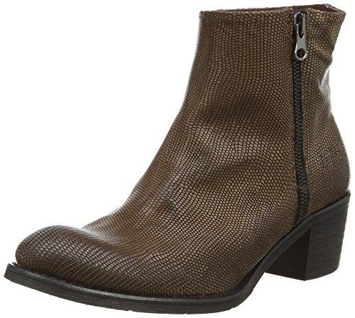 BUNKER Booty - botas de piel mujer marrón - Braun (GEKO SMOKY)