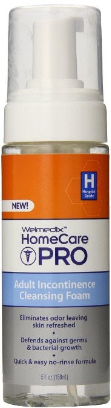 Welmedix HomeCare Pro Adult Incontinence Cleansing Foam 5 oz (Pack of 4)
