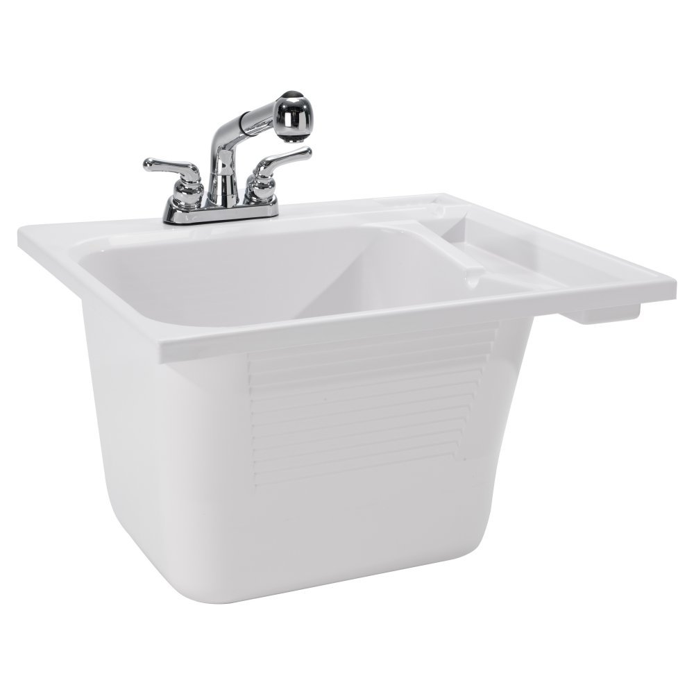 CASHEL 1970-33-01 Drop-In Sink - Fully Loaded Sink Kit, White by Cashel