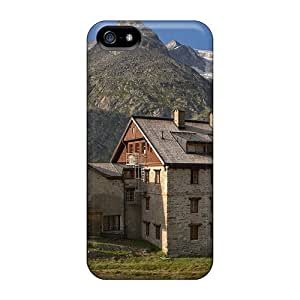EmptySpiral Iphone 5/5s Well-designed Hard Case Cover Chalet On A Summer Day In The Alps Protector