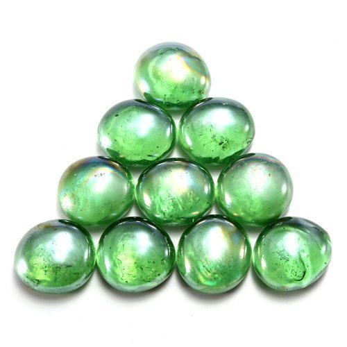Dark Green 10pcs Gorgeous Fish Tank Aquarium Decor Landscaping 16mm Glass Marbles Beads Balls