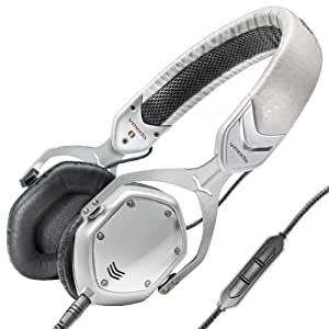 V-MODA Crossfade M-80 On-Ear Noise-Isolating Metal Headphone (White Pearl) (Discontinued by Manufacturer)