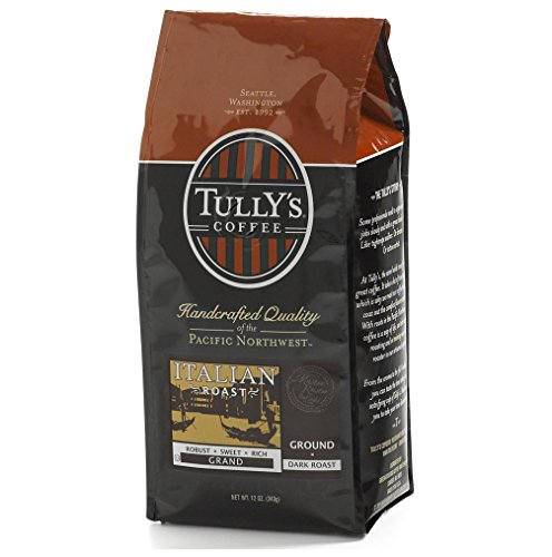 Tully's Coffee Italian Roast, Ground, 12-Ounce Bags (Pack of 2)