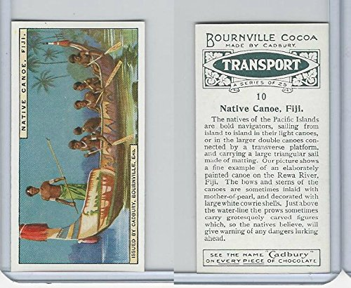 C0-0 Cadbury Chocolate, Transport, 1925, 10 Native Canoe, Fiji