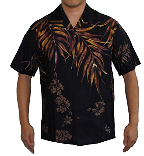 Sales: Mens Island Fern Leaves Hawaiian Aloha Shirt