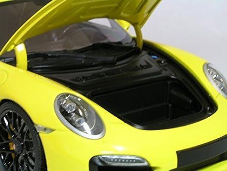 Amazon.com: Minichamps 1/18 Porsche 911 (991) Turbo S (yellow/black wheels) PORSCHE: Toys & Games