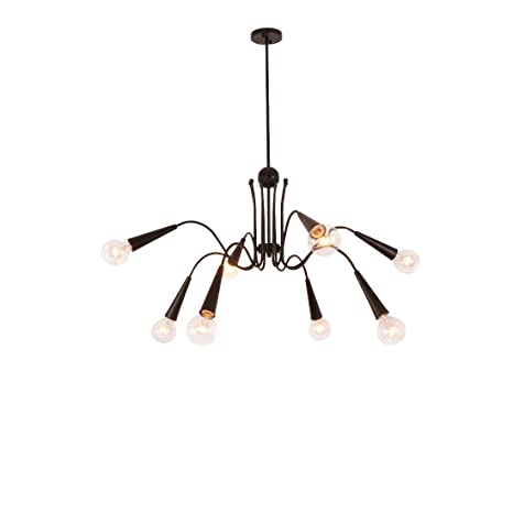 Image Unavailable Not Available For Color Unitary Brand Antique Black Metal Dining Room Art Deco Chandelier