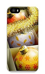 iPhone 5 5S Case HD Christmas Balls 3D Custom iPhone 5 5S Case Cover