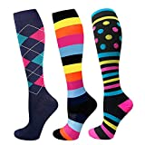 Compression Stocking for Women Man 20-30 mmHg Contention Socks Sports Stockings for Medical Travel Flight Varices TVP Edema Swelling Reduction, 3er Pack (Set7, S/M)