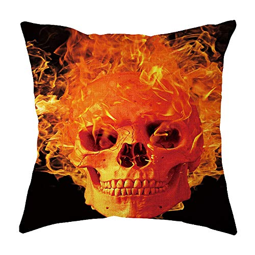 WFeieig_Halloween Top Finel Decorative Throw Pillow Covers with Soft Particles Velvet Solid Cushion Covers for Couch Bedroom Car, Black]()