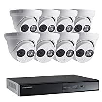 Hikvision 8 Channel DVR + (8) LTS 2 Mega-Pixel 2.8 mm 1080P HD Fixed lens IR Indoor/Outdoor Turret Camera + 2TB HDD Special Package