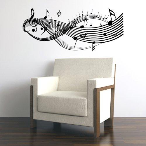 Amazon.com: Clef Music Notes-Wall Decal Sticker Art-Studio Decor ...