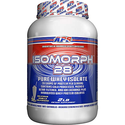 APS Nutrition IsoMorph, AAA-rated Pure/Highest Quality Whey Isolate  Protein Supplement, Vanilla Milkshake, 2 Pound For Sale