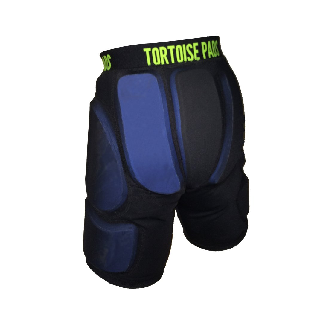 """Tortoise Pads High Impact Padded Shorts with Single Density EVA Foam - Pad Thickness: 1/2"""" (26 - See Sizing Chart)"""