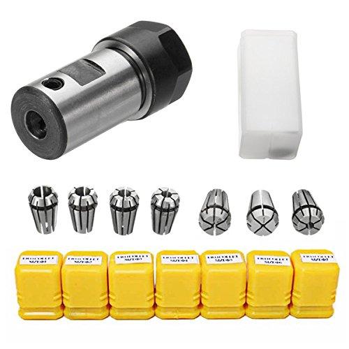 (7Pcs ER11 1-7mm Spring Collets with ER11A 5mm Motor Shaft Holder Extension Rod SINGLE ITEM )