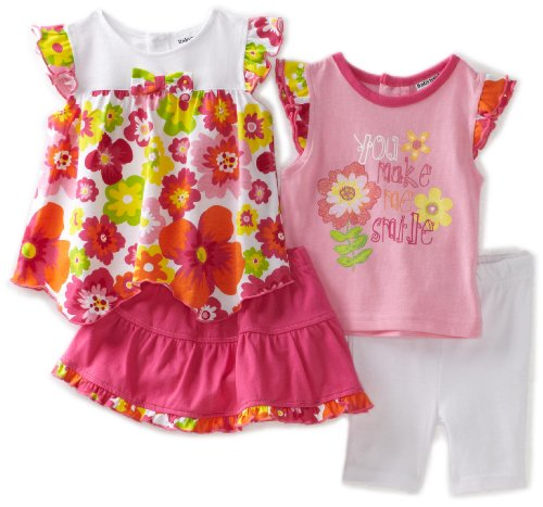 Babyworks Baby-Girls Newborn 4 Piece Short Set, Pink, 24 Months