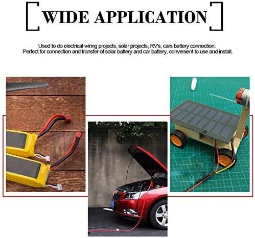 Kit di ricarica per batteria cavo di prolunga con morsettiera nera con fusibile a 2 pin a sgancio rapido con tappo 16 /– 18 AWG cavo di prolunga SAE a SAE