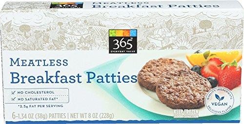 365 Everyday Value, Meatless Breakfast Patties, 1.34 oz, 6 ct, (Frozen)