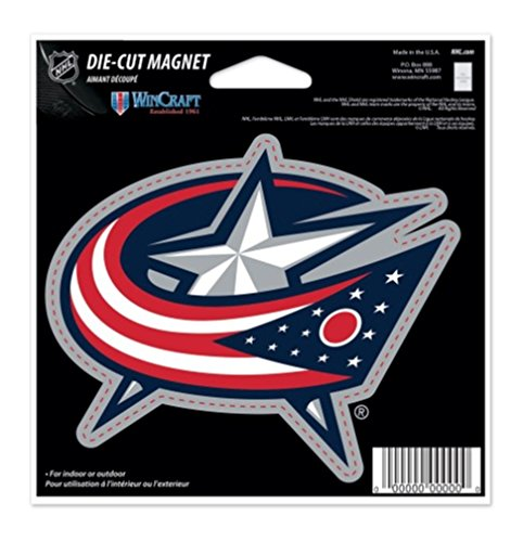 (WinCraft NHL Columbus Blue Jackets Color 4.5 x 6 Die Cut Magnet)