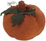 Craft Outlet Burlap Pumpkin Figurine, 9.5 by 4.5-Inch