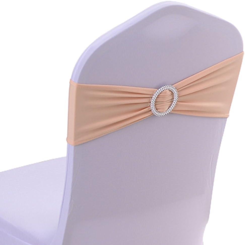 Yontree 50 PCS Noeuds de Chaise Elastique Pas besoin d/être Li/é D/écor Mariage F/ête Bapt/ême