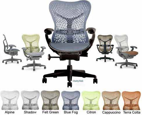 Mirra Chair Herman Miller Deluxe Fully Highly Adjustable Hom