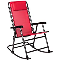 Timber Ridge Folding Lawn Reclining Chair with Armrest